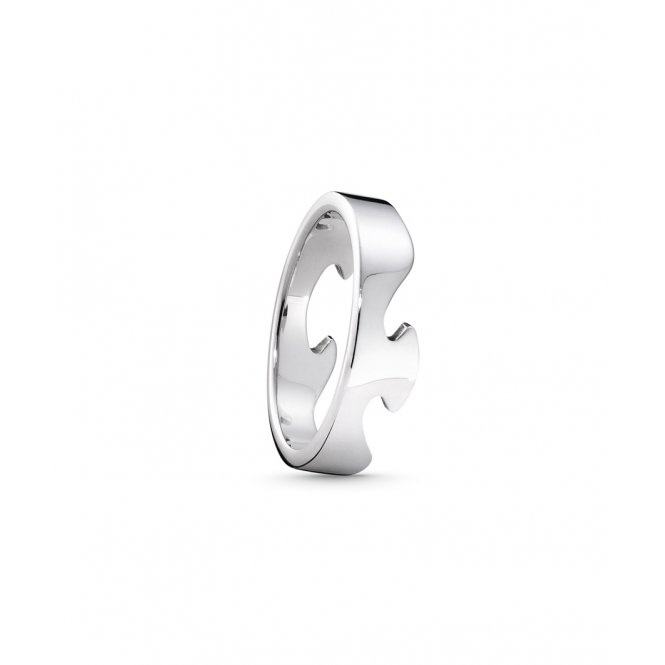 Georg Jensen Fusion White Gold End Ring 62 ~ 3546000-62