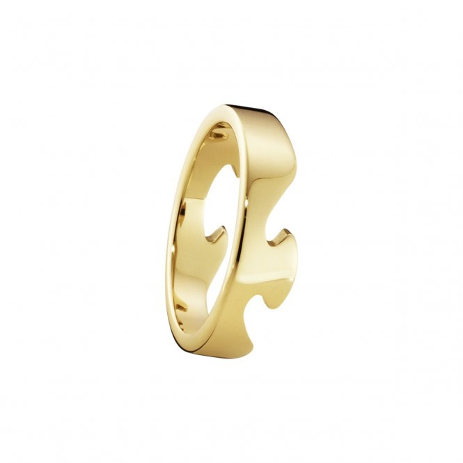 Georg Jensen Fusion Yellow Gold End Ring 55 ~ 3541680-55