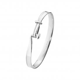Georg Jensen Gents Torun Bangle Silver Large ~ 3531289-L