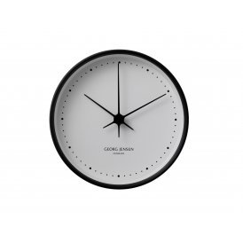 Georg Jensen Koppel 10cm Black & White Clock ~ 3587524