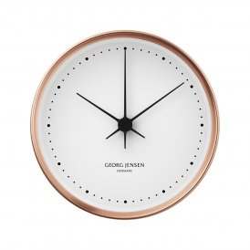 Georg Jensen Koppel 10cm White & Copper Wall Clock ~ 3587521