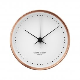 Georg Jensen Koppel 15cm White & Copper Wall Clock ~ 3587522