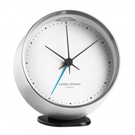 Georg Jensen Koppel Alarm Clock & Holder - Steel/White ~ 3587585