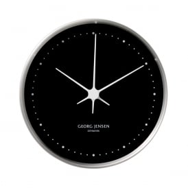 Georg Jensen Koppel Black 10cm Wall Clock ~ 3587594