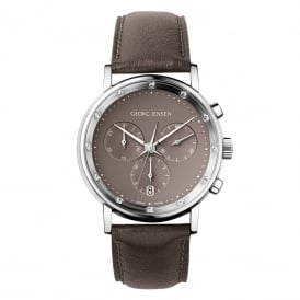 Georg Jensen Koppel Chronograph Taupe Diamond Ladies Watch ~ 3575396