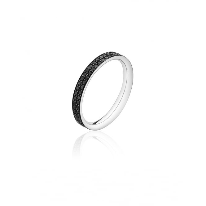 Georg Jensen Magic Band Ring - White Gold/Black Diamond - Size 54 ~ 3571000-54