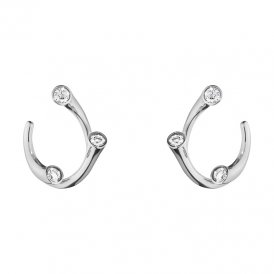 Georg Jensen Magic White Gold Ear Hoops ~ 10009526