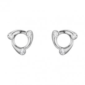 Georg Jensen Magic White Gold Ear Studs ~ 10009516