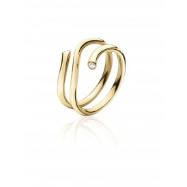 Georg Jensen Magic Yellow Gold Diamond Ring 56 ~ 3569749