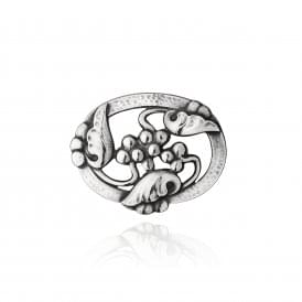 Georg Jensen Moonlight Grapes Brooch - Silver ~ 3531519