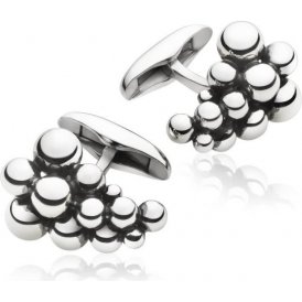 Georg Jensen Moonlight Grapes Silver Cufflinks ~ 3533816