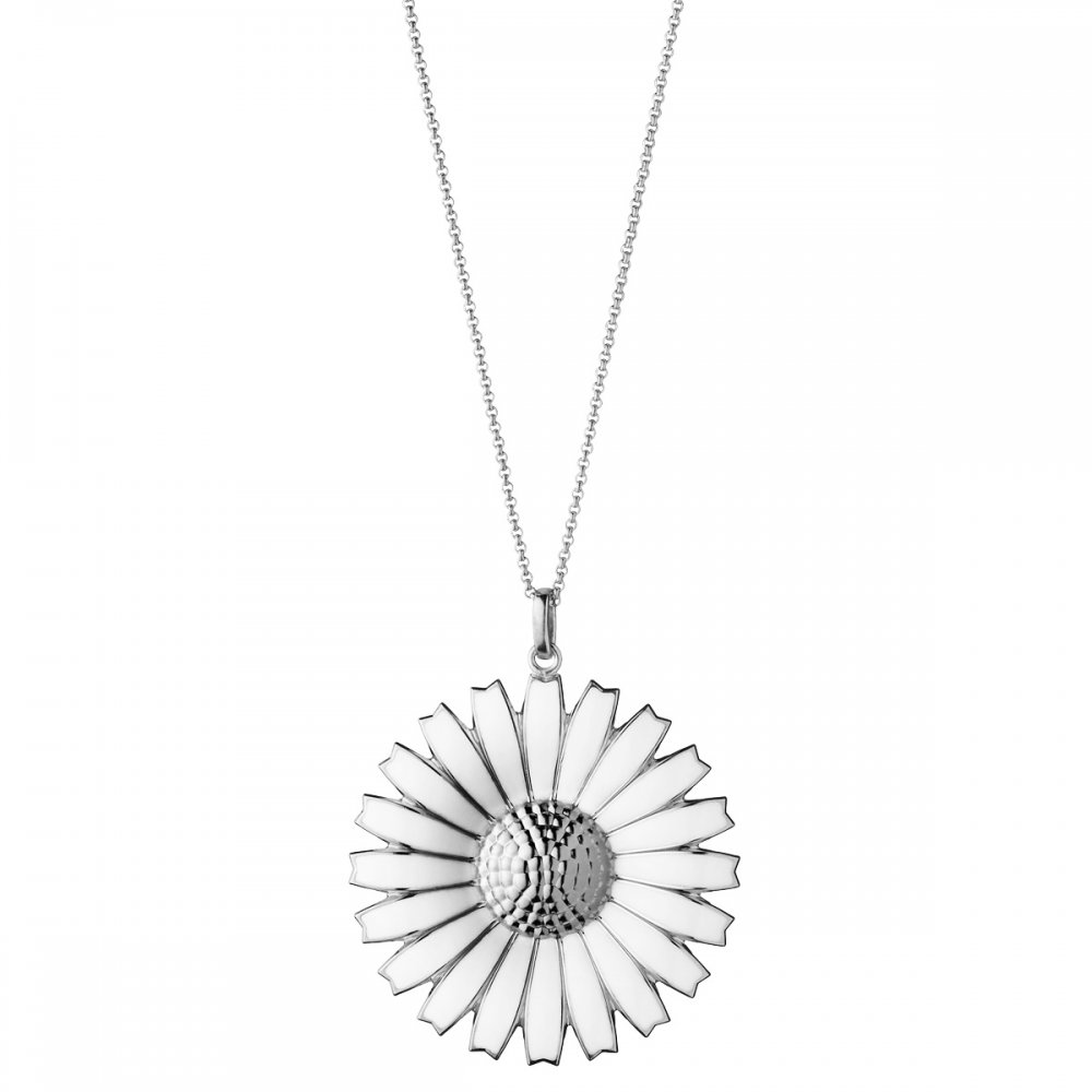 en pandora jewelry daisy floral necklace us lace pendant
