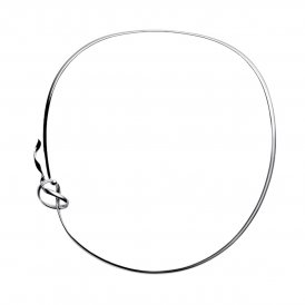 Georg Jensen Silver Forget-Me-Knot Neckring ~ 3532593