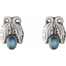 Georg Jensen Silver Moonlight Blossom Moonstone Earclips