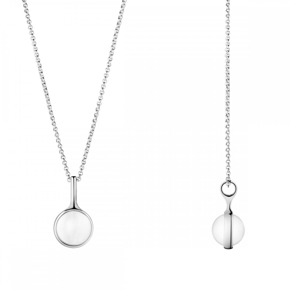 Georg jensen sterling silver spirit necklace with rock crystal georg jensen sterling silver spirit necklace with rock crystal mozeypictures Image collections
