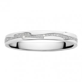 Georg Jensen White Gold Fusion Bangle Medium ~ 3510786