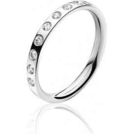 Georg Jensen White Gold Magic Ring With Diamonds 54