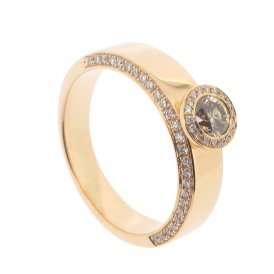 Hans D. Krieger 18ct Rose Gold Fancy Champagne Diamond Ring