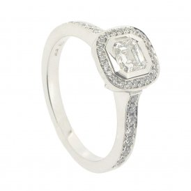 Hans D. Krieger 18ct White Gold Cluster Diamond Ring ~ 312.2421.09.4