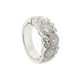 Hans D. Krieger 18ct White Gold Grand Bubble Diamond Ring ~ 312.2546.21.1