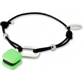 Haribo Black Cord Bracelet with Green Haribat