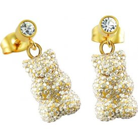 Haribo Gold Swarovski Crystal Gummi Bear Drop Earrings
