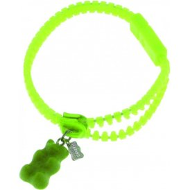Haribo Green Luminous Zipper Bracelet with Green Gummi Bear