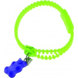 Haribo Green Luminous Zipper Bracelet with Purple Gummi Bear