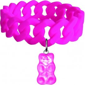 Haribo Magenta Large Stretchy Bracelet with Pink Gummi Bear