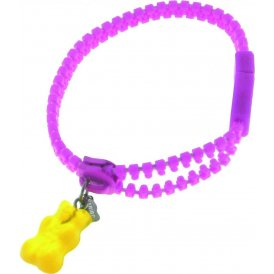 Haribo Magenta Luminous Zipper Bracelet with Yellow Gummi Bear