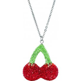 Haribo Necklace with Swarovski Crystal Cherries Pendant