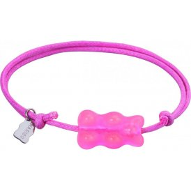 Haribo Pink Cord Bracelet with Pink Gummi Bear