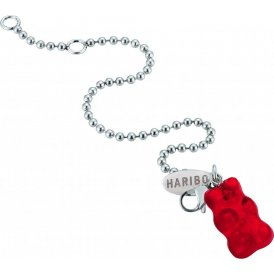 Haribo Red Gummi Bear Ball Chain Bracelet