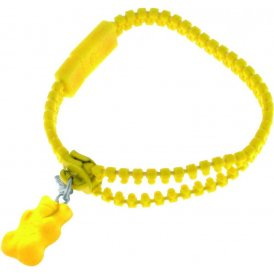 Haribo Yellow Luminous Zipper Bracelet with Yellow Gummi Bear