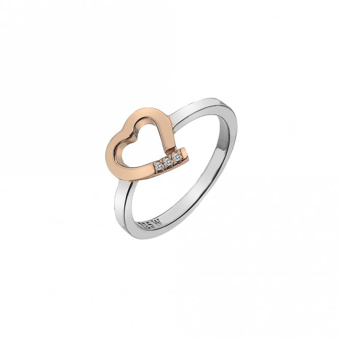 Hot Diamonds Amore Heart Ring Rose Gold O ~ DR194/O