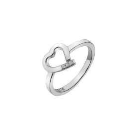 Hot Diamonds Amore Heart Ring Silver L ~ DR194/L