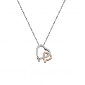 Hot Diamonds Amore Hearts Pendant Rose Gold ~ DP660