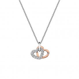 Hot Diamonds Double Heart Pendant - Rose Gold ~ DP683