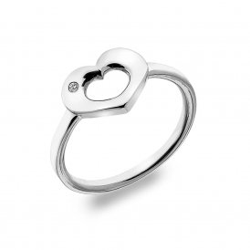 Hot Diamonds Emerge Open Heart Ring ~ DR161/N
