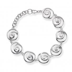 Hot Diamonds Eternity Spiral Bracelet ~ DL246