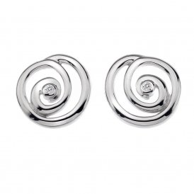 Hot Diamonds Eternity Spiral Stud Earrings ~ DE306