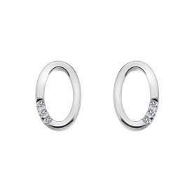 Hot Diamonds Halo Oval Earrings ~ DE418