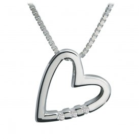 Hot Diamonds Head Over Heels Silver Pendant ~ DP007