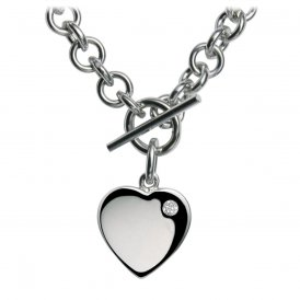Hot Diamonds Lovelocked Silver Necklace ~ DN001