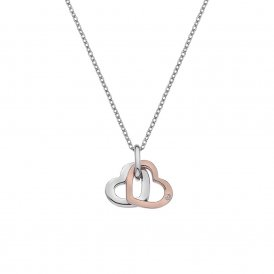 Hot Diamonds Plain Double Heart Pendant - Rose Gold ~ DP686