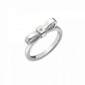 Hot Diamonds Ribbon Ring - Silver - Size N ~ DR196/N