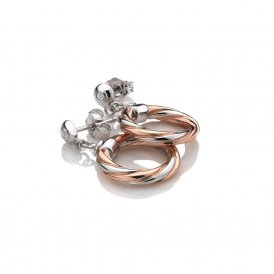 Hot Diamonds Rose Gold Breeze Earrings ~ DE474