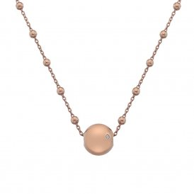Hot Diamonds Rose Gold Globe Necklace ~ DN114