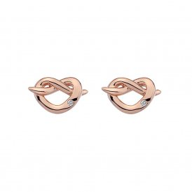 Hot Diamonds Rose Gold Infinity Heart Earrings ~ DE451