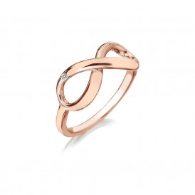 Hot Diamonds Rose Gold Infinity Ring ~ DR175/N
